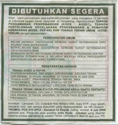 Iklan dari Koran